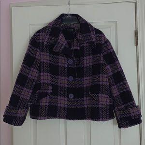 Jackets & Blazers - Italian made plaid pea coat